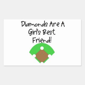 Diamonds are a Girl's Best Friend! Rectangular Sticker