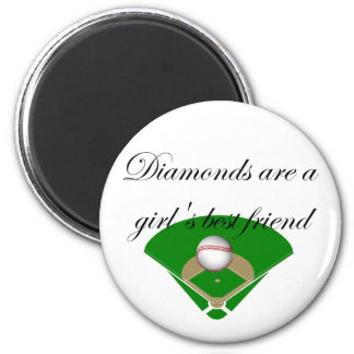 Diamonds are a girl's best friend T-shirts 2 Inch Round Magnet