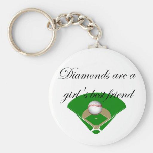 Diamonds are a girl's best friend T-shirts Basic Round Button Keychain