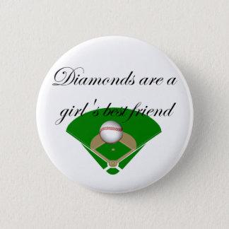 Diamonds are a girl's best friend T-shirts Button