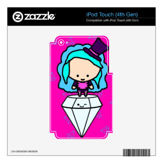 Diamonds are a girl's best friends (kawaii kids) skins for iPod touch 4G