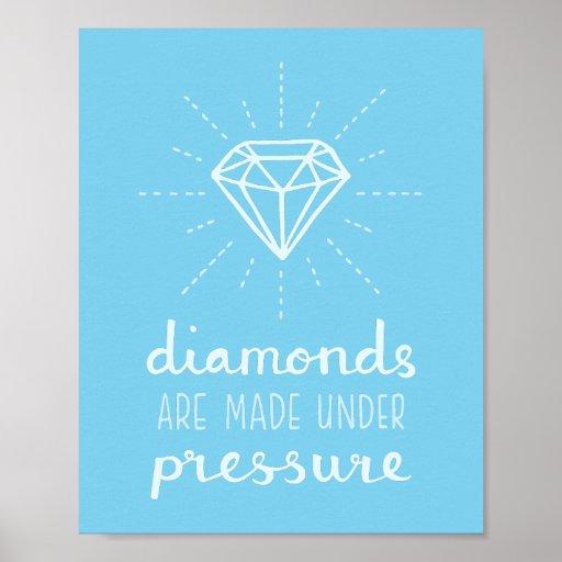 Pressure Makes Diamond: Diamonds Are Made Under Pressure For Her Poster