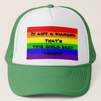 Diamonds arent a girls best friend trucker hat