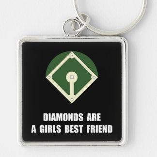 Diamonds Baseball Keychain