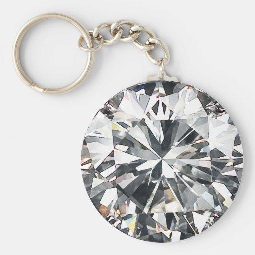 Basic Diamond: Diamonds Basic Round Button Keychain