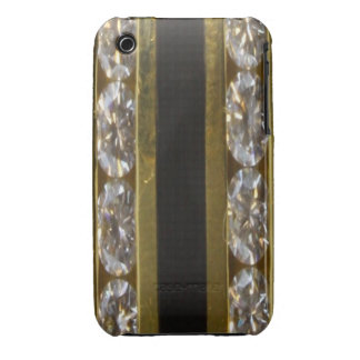 Diamonds, Black Coral and Gold Blackberry Curve Ca iPhone 3 Cover