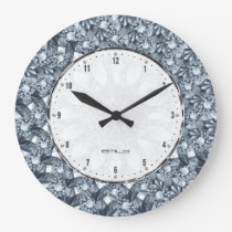 Diamonds Bling For A Queen Or A King Large Clock