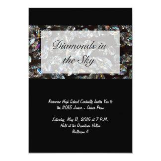 Diamonds - Bling Prom Invitations