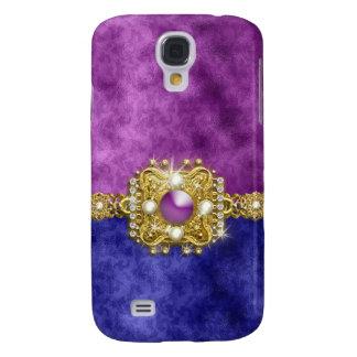 Diamonds bling purple gemstones galaxy s4 case