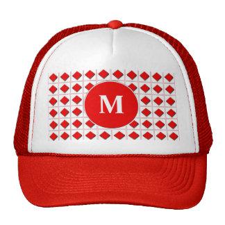Diamonds card suit with monogram trucker hat