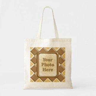 Diamonds - Chocolate Marshmallow Canvas Bags