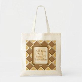 Diamonds - Chocolate Marshmallow Tote Bag