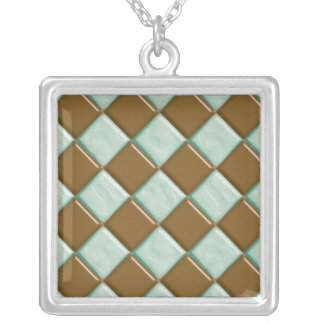 Diamonds - Chocolate Mint Silver Plated Necklace