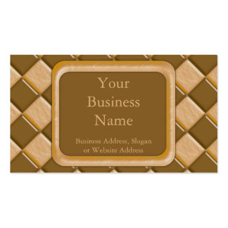 Diamonds - Chocolate Peanut Butter Double-Sided Standard Business Cards (Pack Of 100)