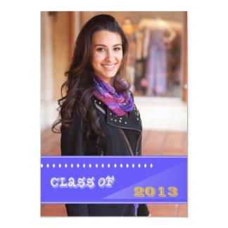 Diamonds Class of 2013 Photo Graduation Announceme 5x7 Paper Invitation Card