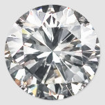 Diamonds Classic Round Sticker