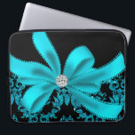 "Diamonds &amp; Damask (Teal) Computer Sleeve<br><div class=""desc"">Diamonds are a girl&#39;s best friend!  So treat yourself or a friend to something special with this beautiful diamond accented design.  Please see this store for matching items,  other initials and more designs. If you need an initial that&#39;s not here yet,  please email: ablingthing@yahoo.com Thanks for shopping here ;)</div>"