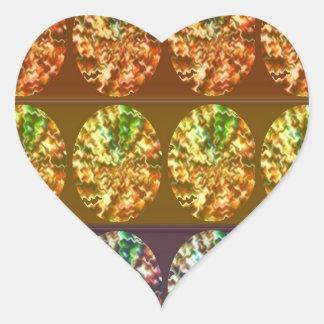 Diamonds Decoration Energy Pattern Heart Sticker