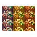Diamonds Decoration Energy Pattern Post Cards
