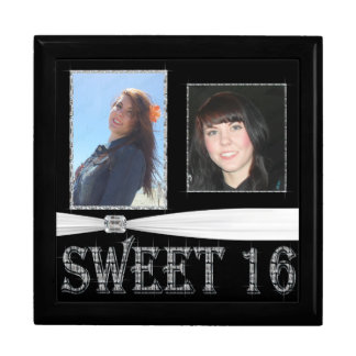 Diamonds Delight Add Photo Sweet 16 Keepsake Box
