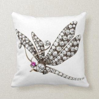 Diamonds Dragonfly SOFA BLING Jewelry Throw Pillow