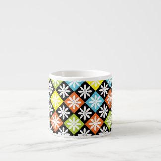 Diamonds floral colorful pattern espresso mug