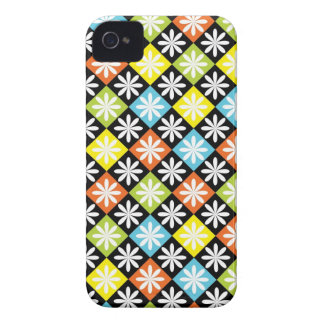 Diamonds floral colorful pattern iphone 4 case