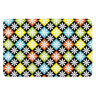Diamonds floral colorful pattern magnet
