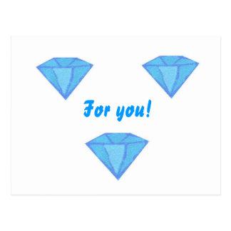 diamonds For you! Postcard