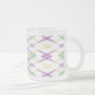 diamonds frosted glass coffee mug