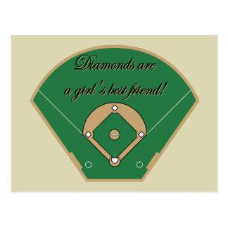 Diamonds Girl's best friend Postcard