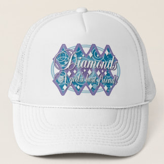 diamonds - girls best friend trucker hat