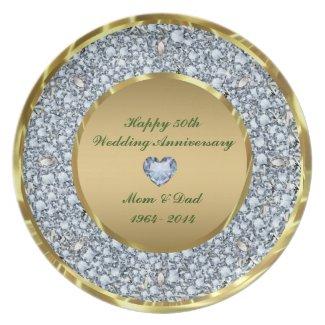 Diamonds & Gold 50th Wedding Anniversary