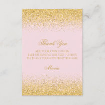 Diamonds & Golden Glitter Thank You Cards