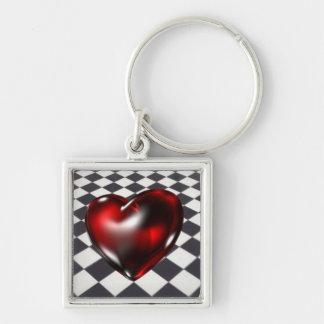 Diamonds & Heart Keychain