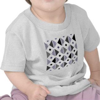 Diamonds In Gray and White Tee Shirts