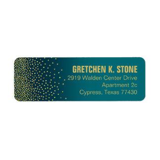 Diamonds in the Sky Address | turquoise Return Address Label