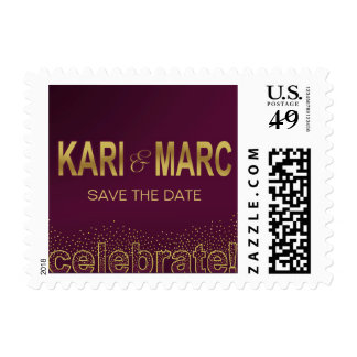 Diamonds in the Sky Celebrate | aubergine Postage Stamp