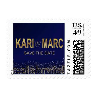 Diamonds in the Sky Celebrate | navy Postage Stamp