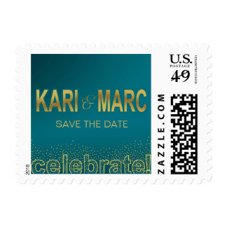 Diamonds in the Sky Celebrate | turquoise Postage
