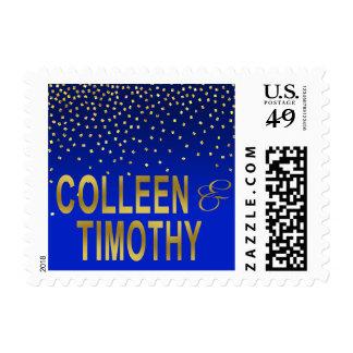 Diamonds in the Sky   cobalt Postage Stamp