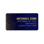 Diamonds in the Sky Mailing | navy Personalized Address Label