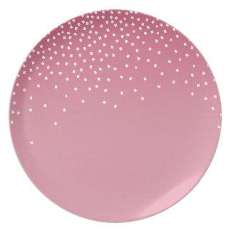 Diamonds in the Sky | pink Melamine Plate
