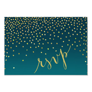Diamonds in the Sky RSVP Response | turquoise Card