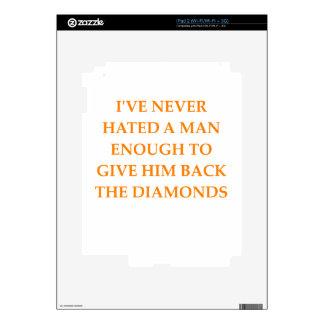 DIAMONDS iPad 2 DECALS