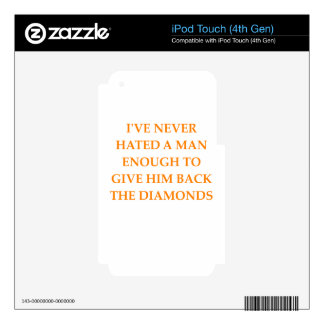 DIAMONDS iPod TOUCH 4G DECALS