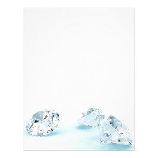 Diamonds-isolated-on-white1587 DIAMANTES BLANCOS L Plantillas De Membrete