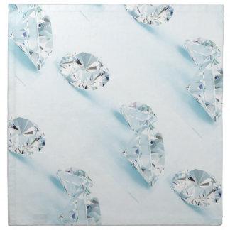 Diamonds-isolated-on-white1587 DIAMANTES BLANCOS L Servilletas