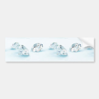 Diamonds-isolated-on-white1587 WHITE DIAMONDS LIGH Bumper Sticker