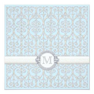 Diamonds & Lace, Couples Couple's Wedding Shower Card